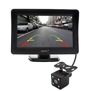 ziqiao 4,3-calowy monitor i noktowizor kamery HD widok z tyłu samochodu