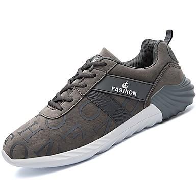 Męskie Komfortowe buty Sztuczna skóra / Materiał do wyboru Jesień / Zima Buty do lekkiej atletyki Bieganie Zero Szary / Czarny biały / Czarny czerwony