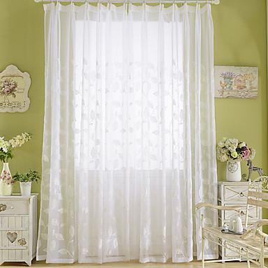 ราคาถูก การรักษาหน้าต่าง-ผ้าม่านโปร่งตัดเย็บในห้องนอนสองเฉดสีด้วยโพลีเอสเตอร์ผสมดอกไม้