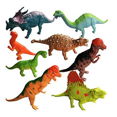 Dragones y dinosaurios Juguetes de construcción Triceratops Figuras de dinosaurios Dinosaurio jurásico Animales Simulación Talla Grande El plastico Niños Chico Chica Juguet Regalo 8 pcs