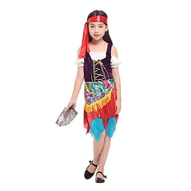 Sweet Lolita Księżniczka Lolita Dla dziewczynek Stroje Cosplay Czerwony Krótki kimonowy Krótki rękaw Mid Udo Midi