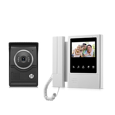Xsl-v43e168-ltouch ekran przewodowy wizualny dzwonek 4.3 cal wyświetlacz lcd monitor wideo domofon domofon drzwi odem ...