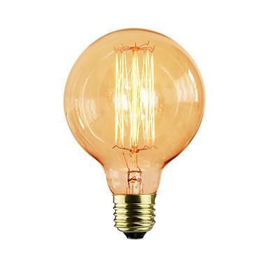 1pc 25 W E26 / E26 / E27 / E27 G80 Varm hvit Glødende Vintage Edison lyspære 220-240 V / 110-130 V