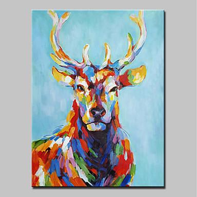 Ręcznie malowane Zwierzęta Pionowy, Zwierzęta Nowoczesny Brezentowy Hang-Malowane obraz olejny Dekoracja domowa Jeden panel