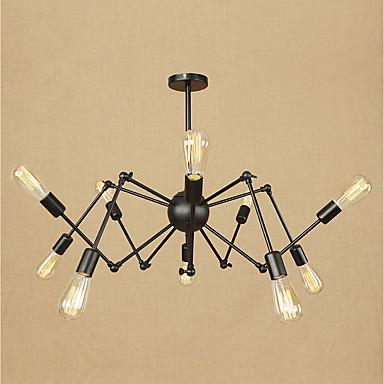 10 świateł Żyrandol Światło rozproszone Metal Styl MIni 110-120V / 220-240V Nie zawiera żarówek / E26 / E27