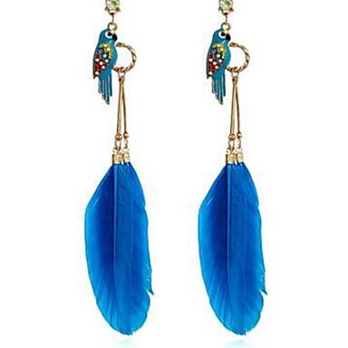 בגדי ריקוד נשים עגילי טיפה - יהלום מדומה Parrot קלסי, אופנתי פוקסיה / כחול עבור יומי