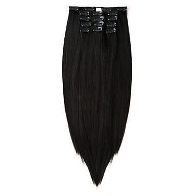 voordelige Synthetische extensions-Neitsi Recht Synthetisch haar 55.9 cm Haarextensies Clip-in Dames Dagelijks