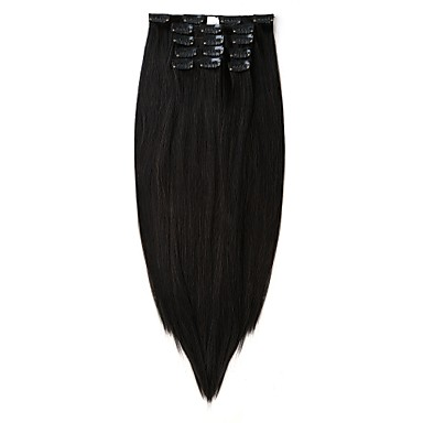 Neitsi ישר שיער סינטטי 22 אינץ' הַאֲרָכַת שֵׂעָר נתפס עם קליפס בגדי ריקוד נשים יומי