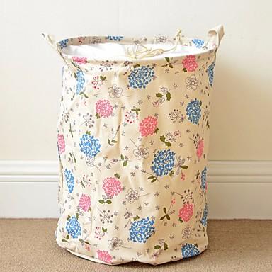 סיבי ניילון / סיב טבעי עגול רב שימושי בית אִרגוּן, 1pc תיק וסל כביסה
