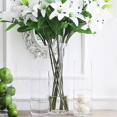 פרחים מלאכותיים 0 ענף סגנון מודרני אגרטל פרחים לשולחן / אחת אגרטל
