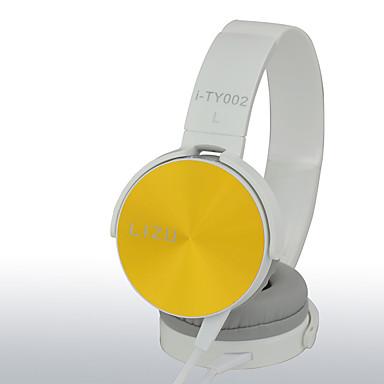 LIZU I-TY002 רצועת ראש חוטי אוזניות דִינָמִי נחושת טלפון נייד אֹזְנִיָה עם מיקרופון אוזניות