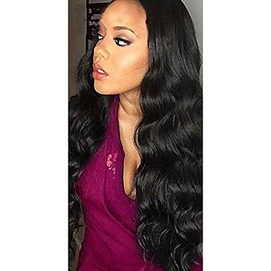 abordables Perruques Naturelles Dentelle-Perruque Cheveux Naturel humain Lace Frontale Cheveux Brésiliens Autre Ondulation naturelle 120% avec des cheveux de bébé Ligne de Cheveux Naturelle Pré-plumé Noir Naturel Femme Court Moyen Long