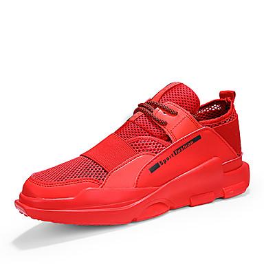בגדי ריקוד גברים טול אביב / קיץ נוחות נעלי אתלטיקה ריצה שחור / אדום / שחור לבן