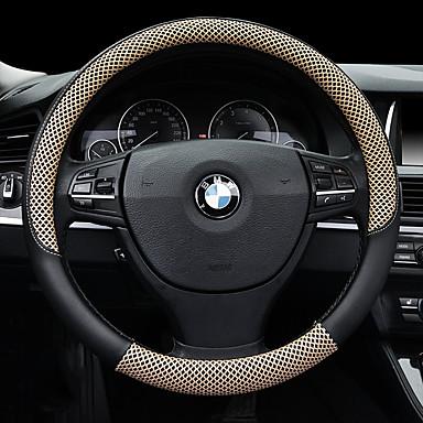 voordelige Auto-interieur accessoires-Auto-stuurhoezen 38cm Beige / Koffie / Zwart / Rood Voor Universeel Algemene motoren Alle jaren