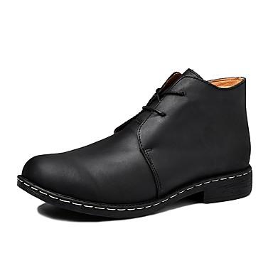 בגדי ריקוד גברים Fashion Boots עור סתיו / חורף קאובוי / מגפיים מערביים מגפיים מגפונים\מגף קרסול קולור בלוק שחור / חום / מסיבה וערב