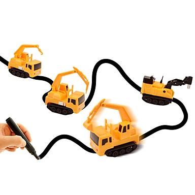 מכונית אינדוקטיבית קסומה מכוניות צעצוע משאית רכב בנייה צעצועים מכונית עיצוב מיוחד חיישן אור אינטראקציה בין הורים לילד פלסטיק רך 1pcs