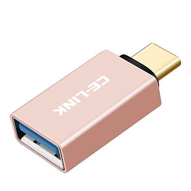 CE-Link USB 3.0 מתאם, USB 3.0 to סוג USB 3.0 C מתאם זכר-נקבה קצר (פחות מ ס