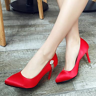 Talons Similicuir Noir Chaussures pointu Talon Aiguille Escarpin Confort Printemps Bout Microfibre Femme à Eté Basique Chaussures 06501116 ZF8q5xnv