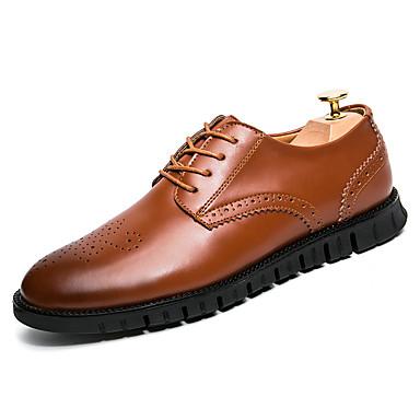 בגדי ריקוד גברים נעליים פורמליות עור סתיו / חורף נעלי אוקספורד שחור / חום / מסיבה וערב / מסיבה וערב / לבש נעליים / נעלי נוחות