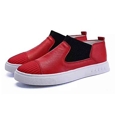 בגדי ריקוד גברים נעליים טול אביב / סתיו נוחות נעליים ללא שרוכים לבן / שחור / אדום