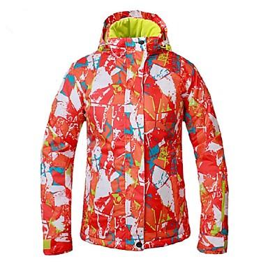 בגדי ריקוד נשים ג'קט לסקי עמיד, עמיד למים, חם מחנאות וטיולים / סקי / בטבע פוליאסטר ז'קטים לחורף ביגוד סקי