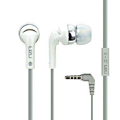 LIZU i-K12 באוזן חוטי אוזניות דִינָמִי נחושת טלפון נייד אֹזְנִיָה עם מיקרופון אוזניות