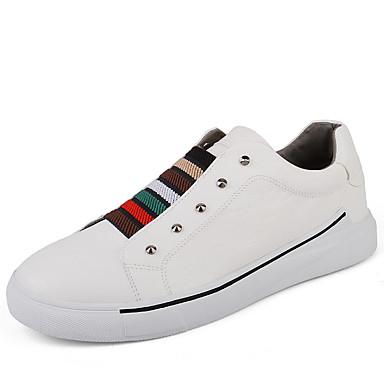 בגדי ריקוד גברים PU אביב / סתיו נוחות נעלי ספורט לבן / שחור / אפור