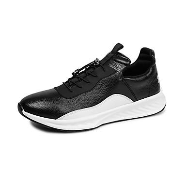 בגדי ריקוד גברים PU סתיו / חורף נוחות נעלי ספורט לבן / שחור
