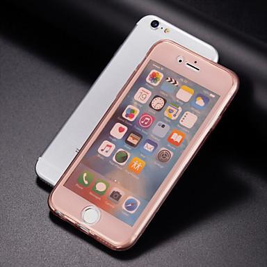 Para iPhone 8 Plus iPhone 7 iPhone 7 Plus iPhone 6 iPhone 6 Plus Case Tampa Transparente Corpo Inteiro Capinha Côr Sólida Macia PUT para