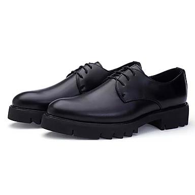 בגדי ריקוד גברים נעלי נוחות PU סתיו / חורף נעלי אוקספורד שחור