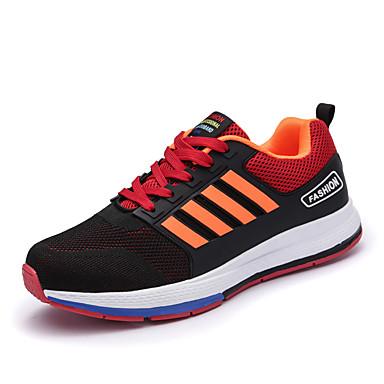 בגדי ריקוד גברים PU אביב / סתיו נוחות נעלי אתלטיקה אפור / אדום / כחול / ריצה