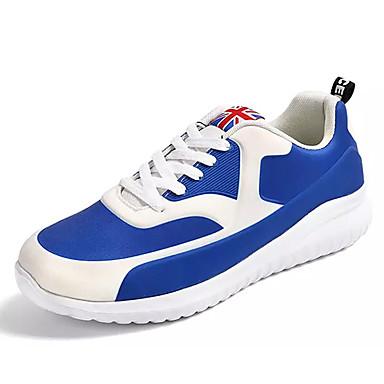 בגדי ריקוד גברים נעליים בד / PU אביב / סתיו נוחות נעלי אתלטיקה שחור / כחול ים / ריצה
