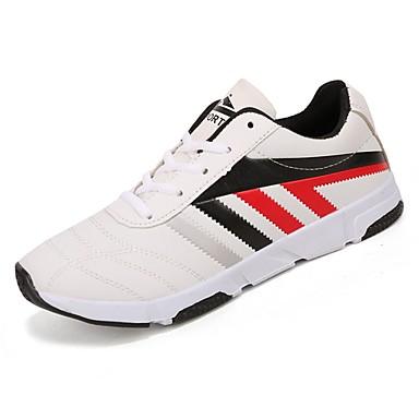 גומי אביב / סתיו נוחות נעלי אתלטיקה קולור בלוק לבן / שחור לבן / לבן וכחול