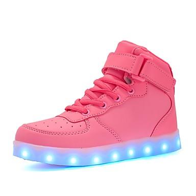 À Prix Réduit Offre Magasin De Sortie Mujer Zapatos PU Primavera / Otoño Confort / Zapatos con luz Zapatillas de deporte Tacón Bajo Blanco / Negro / Rosa XJ0Mu