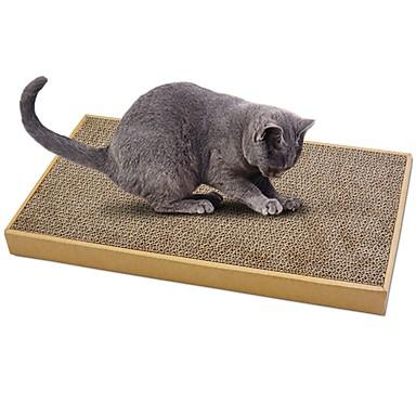 abordables Vêtements & Accessoires pour Chat-Cataire Paniers simple Compatible avec animaux de compagnie Griffoir Papier durci Carton Papier carton Pour Chat Jouet pour Chat