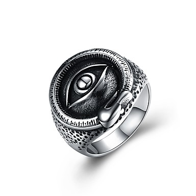 voordelige Herensieraden-Heren Statement Ring Zegelring Illuminati Ring Zilver Roestvast staal Cartoon Punk Modieus Carnaval Club Sieraden Monster Magie