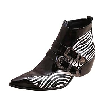 halpa Miesten kengät-Miesten Fashion Boots Nahka / Hevosenjouhi Syksy / Talvi Vapaa-aika Bootsit Nilkkurit Musta / Häät / Juhlat / Juhlat