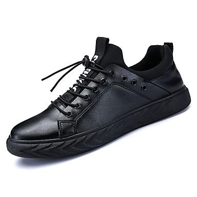 נעליים גומי אביב סתיו נוחות נעלי ספורט ל בָּחוּץ שחור שחור לבן