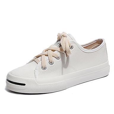 בגדי ריקוד נשים נעליים PU אביב / סתיו נוחות נעלי ספורט שטוח בז' / אדום / ירוק