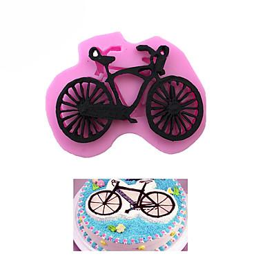 אופני סיליקון אופניים אופניים צורה עוגה תבנית עוגה לקשט כלי שוקולד תבניות