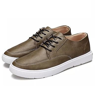 נעליים PU אביב סתיו נוחות נעלי אוקספורד ל קזו'אל שחור ירוק צבא חאקי