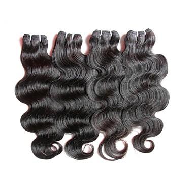 4 חבילות שיער ברזיאלי Body Wave שיער ראמי טווה שיער אדם שוזרת שיער אנושי תוספות שיער אדם