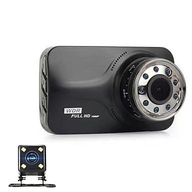 abordables DVR de Voiture-848 x 480 / 1280 x 720 / 1920 x 1080 DVR de voiture 170 Degrés Grand angle 3 pouce Dash Cam avec Vision nocturne / G-Sensor 9 LED infrarouges Enregistreur de voiture