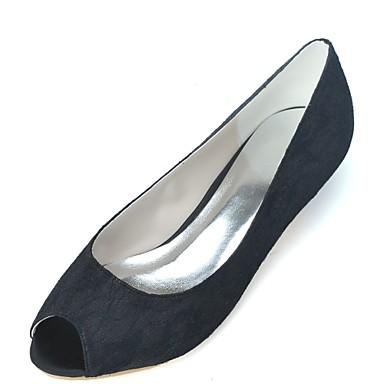Noir Tulle ouvert Bout Blanc 06471979 de Rose Basique Femme Heel mariage Chaussures Printemps Kitten Mariage Eté Chaussures Escarpin 65PHxBSw