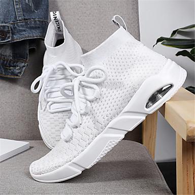 Femme Noir Printemps Gris 06487761 Tricot Talon Chaussures Eté Rouge Basket Plat Confort q1wqfBr