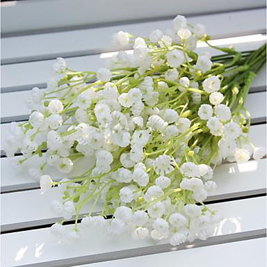 פרחים מלאכותיים 2 ענף פסטורלי סגנון גיבסנית פרחים לשולחן