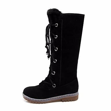 Confort Jaune à Mode Plat de Bottes Talon Chaussures Marron mollet Femme Noir Hiver Cuir neige Bottes la Bottes Automne Bottes Cuissarde 06515975 Nubuck Mi 71ZnXqv