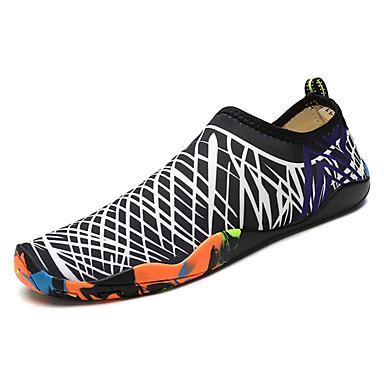 בגדי ריקוד נשים נעליים בד אביב / סתיו נוחות נעלי אתלטיקה נעלי ספורט מים שטוח בוהן עגולה שחור לבן / שחור / ירוק / שחור / כחול