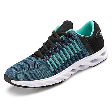 בגדי ריקוד גברים נעליים טול אביב / סתיו נוחות נעלי אתלטיקה הליכה שחור / אפור / כחול