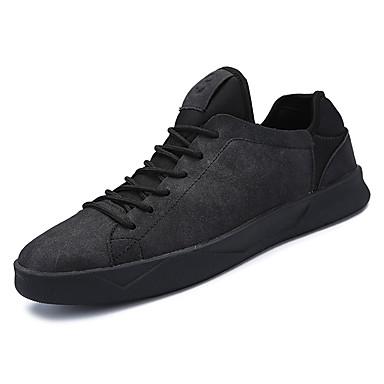 בגדי ריקוד גברים נעליים עור נובוק אביב / סתיו נוחות נעלי ספורט שחור / אפור / חום